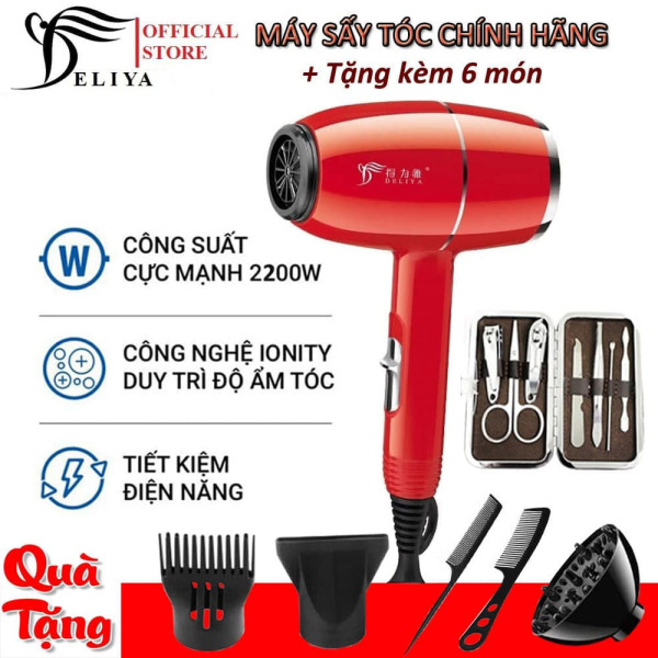 Máy sấy tóc, máy sấy mini DELIYA Cao Cấp , Máy sấy tóc cá nhân nóng lạnh 2 chiều DLY-8016 công suất 2000w, Phong cách thời trang, Thiết kế đẹp trẻ trung phá cách  TẶNG KÈM 6 PHỤ KIỆN - BẢO HÀNH 12 THÁNG nhập khẩu