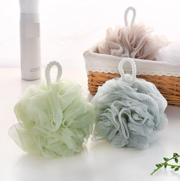 Bông tắm cao cấp kiểu tròn quả khế dây dài dày dặn mềm mại đẹp chọn mẫu giao màu ngẫu nhiên cao cấp