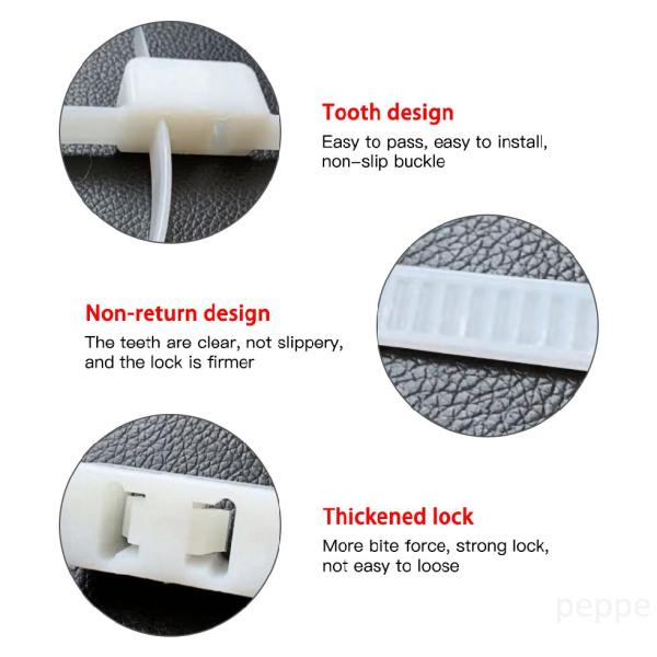 Mua 10 cái Flex Double Cuff Hạn chế dùng một lần Zip Tie Cuff Tự khóa Cuff Đen cHwi8zmE