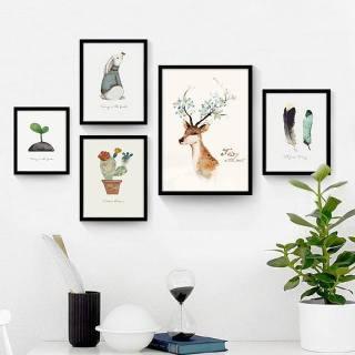 Khung ảnh treo tường composite nghệ thuật hươu KA107 ( TẶNG 1 BỘ ẢNH) thumbnail