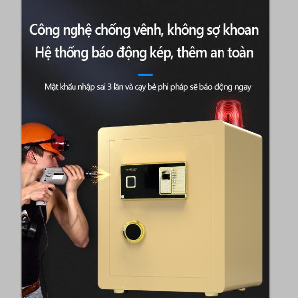 Két sắt an toàn mở khoá vân tay thông minh, két sắt từ chất liệu hợp kim carbon, dùng cho văn phòng và gia đình