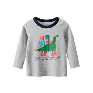 [ VIDEO] H132 Áo thun dài tay bé trai 27KIDS chất liệu 100% cotton in hình GO CAMPING (GREY) cho bé từ 10-33kg (2 tuổi -10 tuổi ) an toàn mềm mịn thích hợp cho bé đi học đi chơi thumbnail