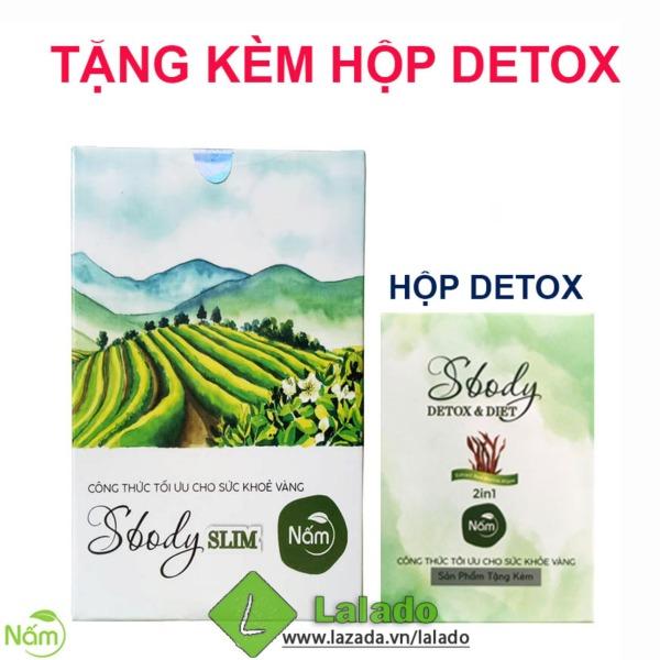 Nấm giảm cân Sbody Slim dạng viên tặng Detox