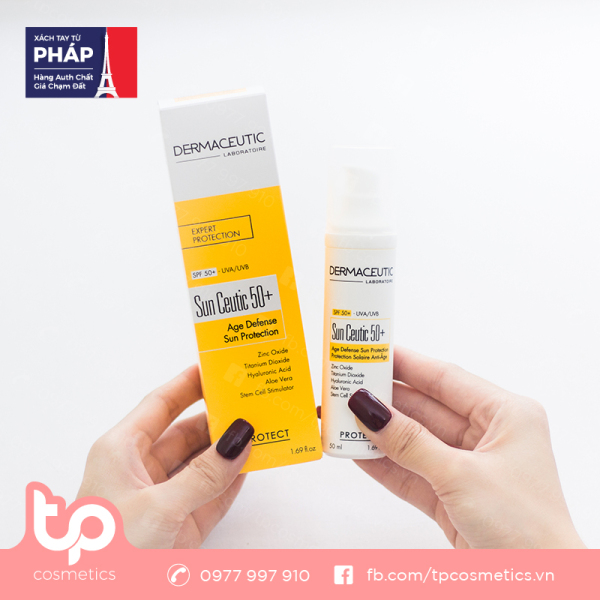 Kem Chống Nắng Chống Lão Hóa Dermaceutic Sun Ceutic 50+ Protection Solaire Anti-Age SPF 50+ 50ml