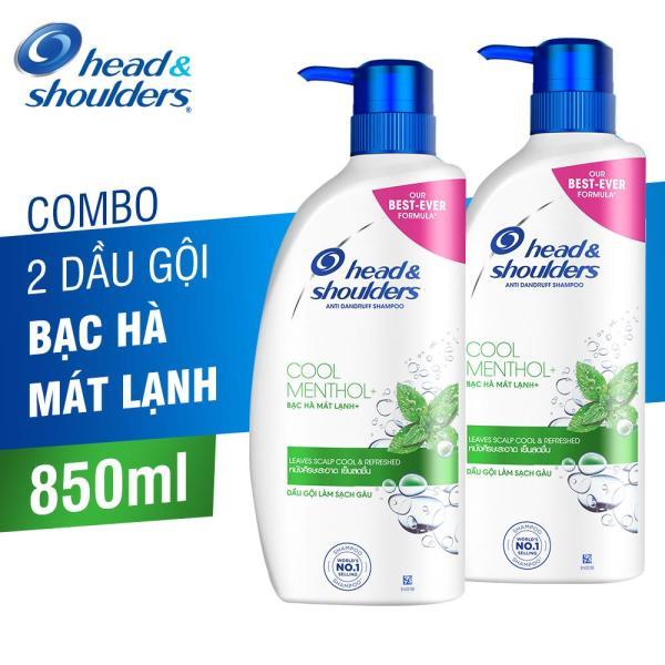 Combo 2 Dầu Gội Head & Shoulders Bạc Hà Mát lạnh 850ml tốt nhất