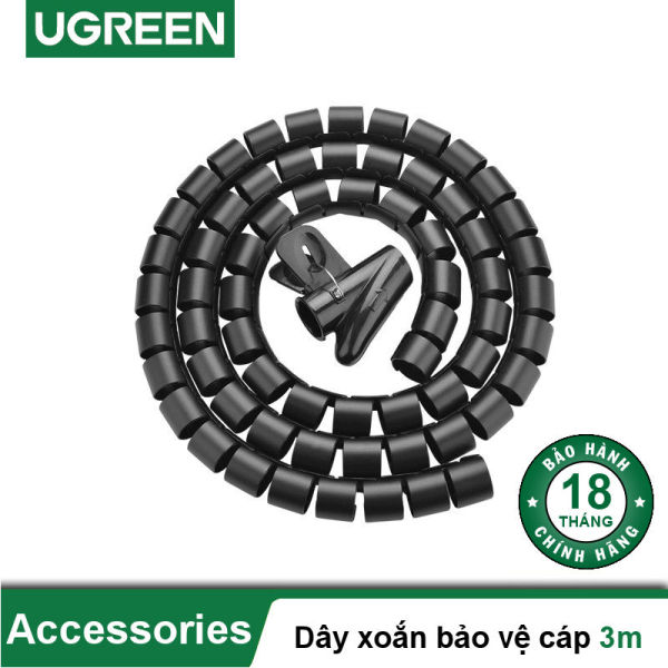 Dây dạng ống xoắn PE bảo vệ các loại dây cáp dài 3m UGREEN LP121 30819 - Hãng phân phối chính thức