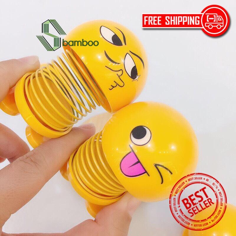 Đồ Chơi Lắc Đầu Emoji Lò Xo, Đồ Chơi Nhún Siêu Dễ Thương, Đồ Chơi Trang Trí Xe Hơi-[SET 2 CON]- Sbamboo