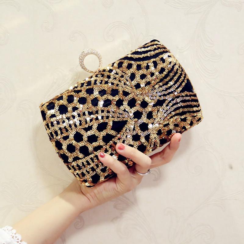 2019 Fashion New Style Womens Bag Package Delicacy Sequin Diamond Set Clutch yan hui bao Mini Chain Square Sling Bag Nightclub