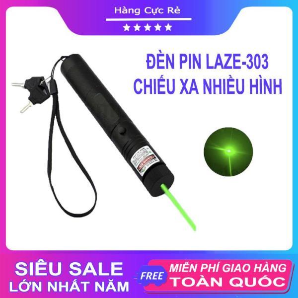 Đèn pin Laze 303 chiếu xa nhiều hình cực đẹp - Trọn bộ gồm đèn laser, bộ sạc, pin Li-ion, chìa khóa an toàn, sách hướng dẫn, hộp đựng sản phẩm - Shop Hàng Cực Rẻ