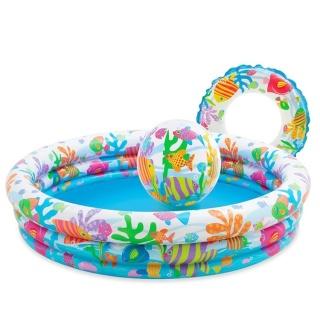 Bể Bơi Phao 3 Chi TIết Kèm Bóng Và Phao Bơi Cho Bé - Bể phao cầu vòng kèm bóng và phao - đồ dùng sinh hoạt cho bé - đồ chơi vận động cho bé - hồ phao cao cấp - đồ chơi cho bé ngày hè - hồ chứa nước - đồ dùng sân vườn - phát triển trí tuệ thumbnail