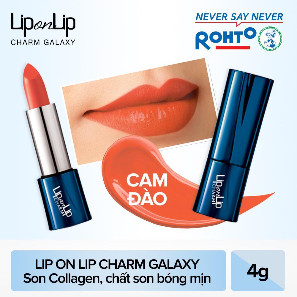 Son thỏi Lip On Lip Charm Galaxy Edition Peach Orange 4g (Cam Đào)