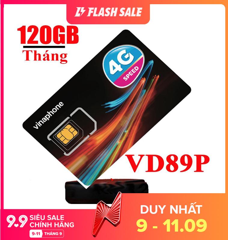 Sim 4G Vinaphone VD89P 4GB/ngày (120GB/tháng +50phút ngoại mạng,Miễn phí gọi nội mạng chỉ với 89k/tháng