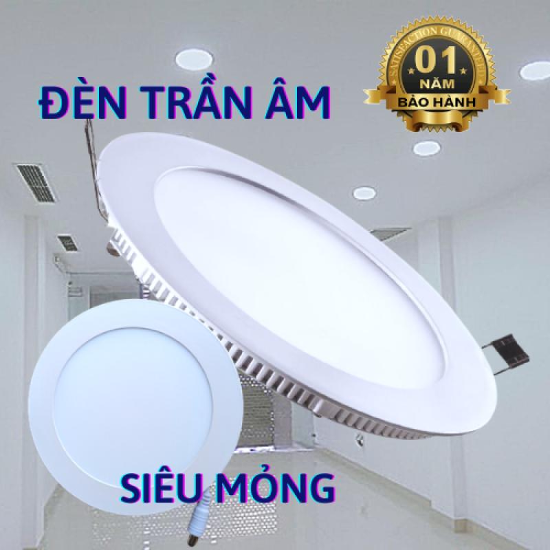 Đèn Led âm trần tròn hàng chính hãng siêu sáng, 3w 6w 9w 12w 18w 24w, tiết kiệm điện, thiết kế sang trọng - Đèn Led 24h