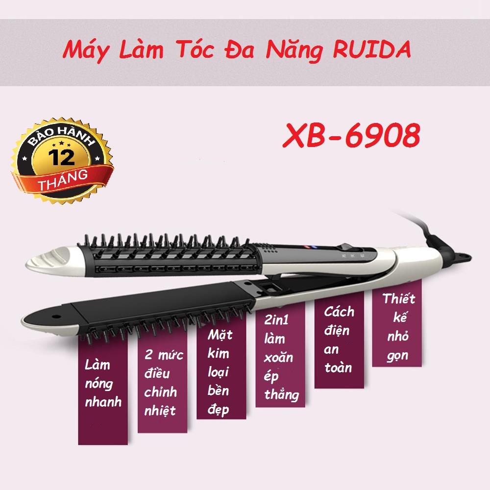 Máy là tóc hàn quốc 838 có 5 mức chỉnh nhiệt / Máy uốn tóc xoắn ốc tự động, Bộ tạo kiểu tóc đa năng Máy là uốn tóc RUIDA năng, tạo kiểu tóc, máy duỗi tóc mini, siêu tiên lợi ,giá tốt - Sản phẩm cao cấp - BẢO HÀNH 12 THÁNG cao cấp