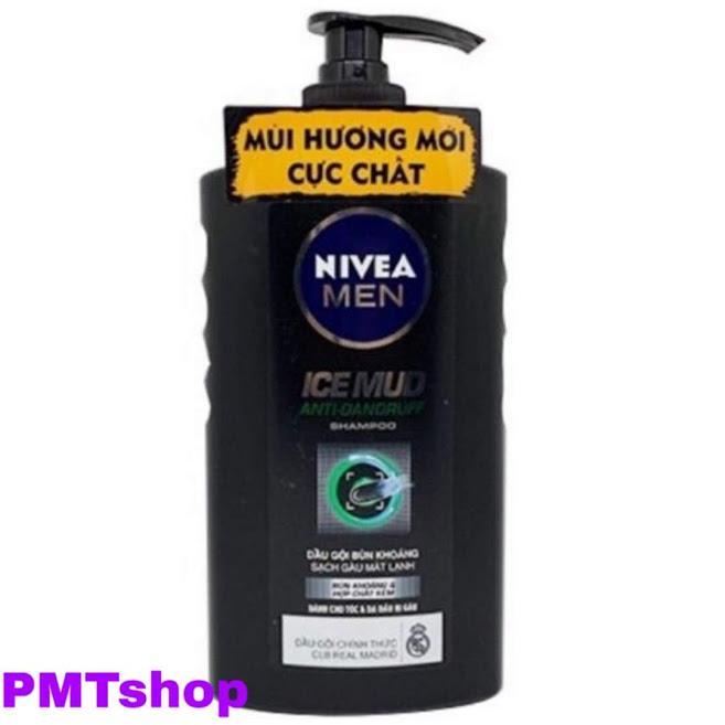 [Exp 6/2020] Dầu gội bùn khoáng sạch gàu mát lạnh dành cho nam Nivea men 650ml - Ice Mud Anti-Dandruff Shampoo