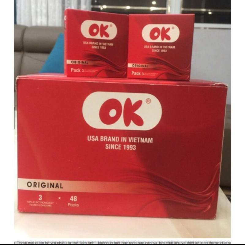 Bao cao su OK đỏ [hộp 144 cái]