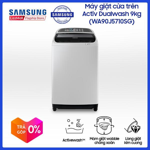 Máy giặt cửa trên Samsung Activ Dualwash 9Kg WA90J5710SG/SV (Xám đen) - Hãng phân phối chính thức