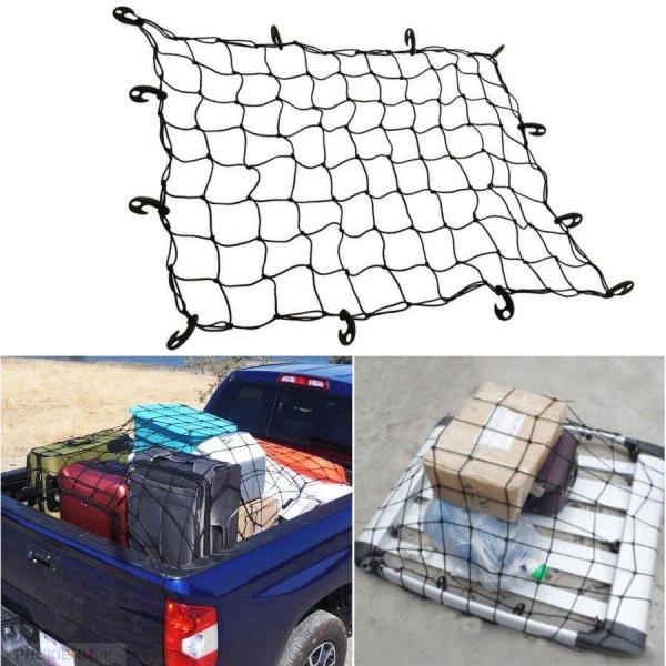 [HCM]Lưới trùm hàng hoá xe bán tải, ràng buộc cố định đồ chở nóc baga xe hơi ô tô - kích thước 120cm x 80cm