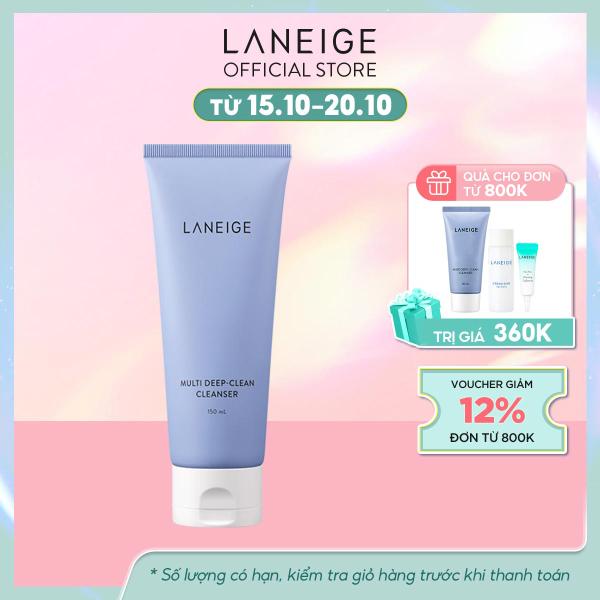 Sữa rửa mặt sạch sâu cho da dầu và da hỗn hợp Laneige Multi Deep Clean Cleanser 150Ml