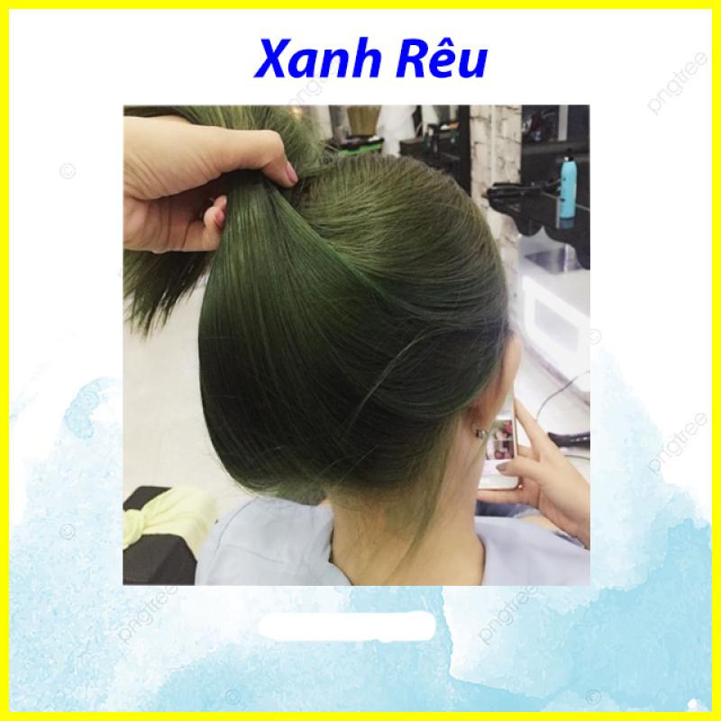 Tự nhuộm tóc màu Xanh rêu lá khói tại nhà, hàng nội địa Việt Nam, không gây hư tổn cho tóc (Trọn bộ tặng gang tay, trợ nhuộm) giá rẻ