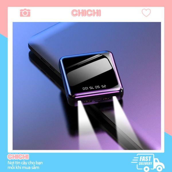 Sạc Dự Phòng 20000mAh mini cao cấp giá rẻ kèm dây sạc nhanh nhỏ gọn ChiChi PDP06
