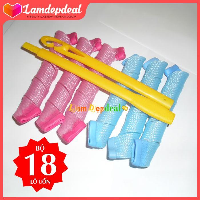 Lamdepdeal - Bộ tạo kiểu tóc xoăn 18 ống Curlformer dài 15cm - Dụng cụ làm tóc nhập khẩu