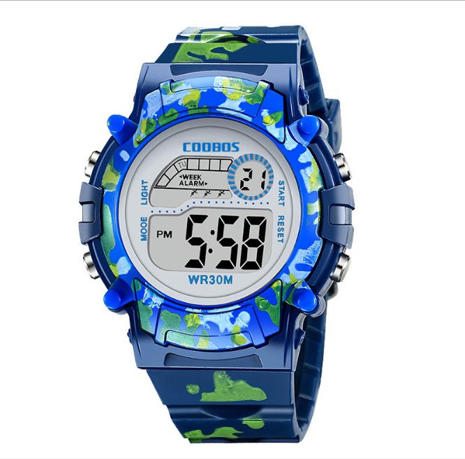 [HCM][MIỄN PHÍ GIAO HÀNG] Đồng hồ trẻ em đa chức năng kết hợp đèn Lex 7 màu chính hiệu Coobos
