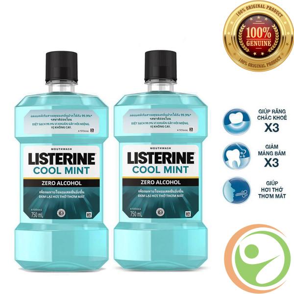 Nước Súc Miệng Listerine Cool Mint Zero 750ml - Giúp Hơi Thở Thơm Mát