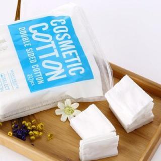 Bông tẩy trang MayCreate 222 Miếng 3 lớp mềm mịn - Tặng Kèm Khăn giấy nén đa năng hình viên kẹo thumbnail