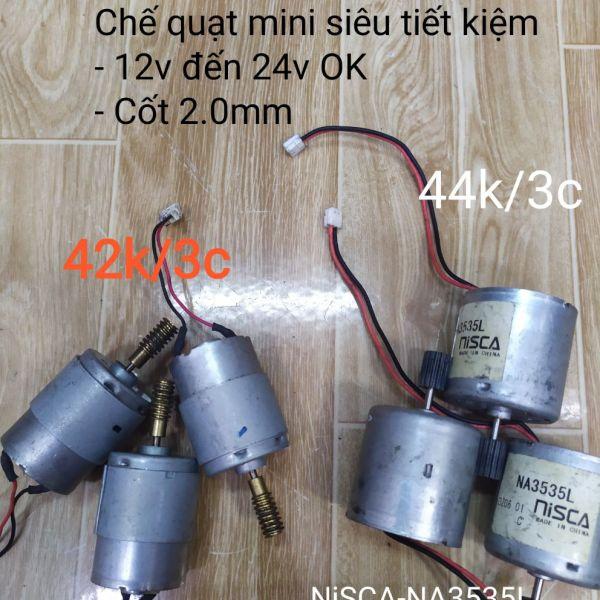 Bảng giá DC Motor tháo máy 12v đến 24v chế quạt tích điện mini Điện máy Pico