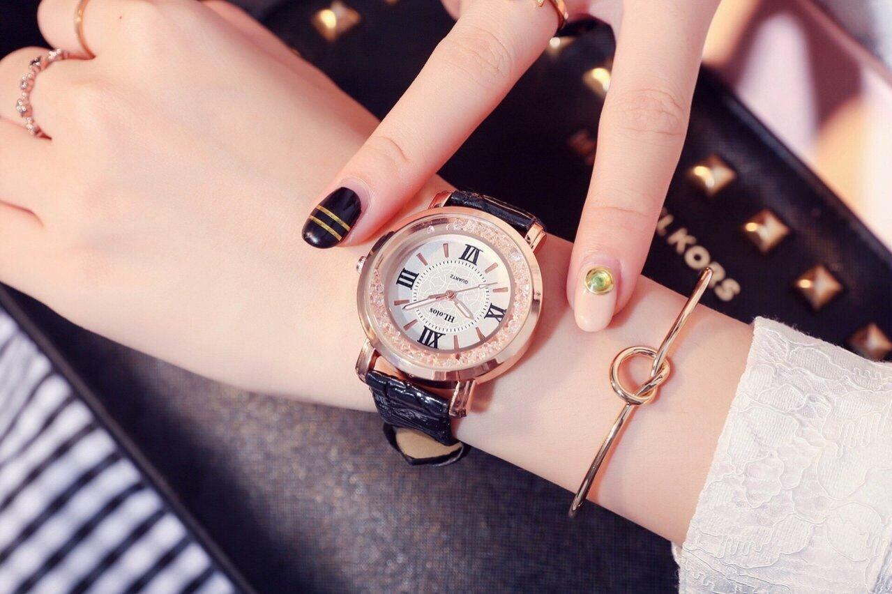Đồng hồ nữ HLoios thể thao dây da - HL1 bán chạy