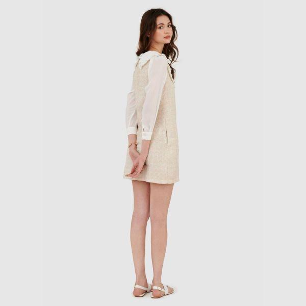 Đầm form suông vải TWEED phối vải - MARC FASHION