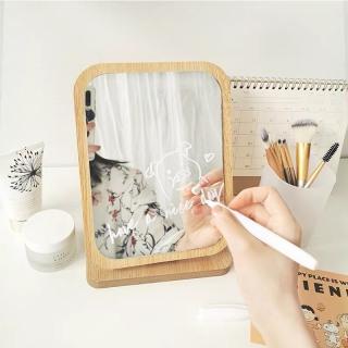 Gương đặt bàn trang điểm chất liệu gỗ cao cấp - Gương trang điểm phong cách Hàn Quốc - Gương nhỏ để bàn thumbnail