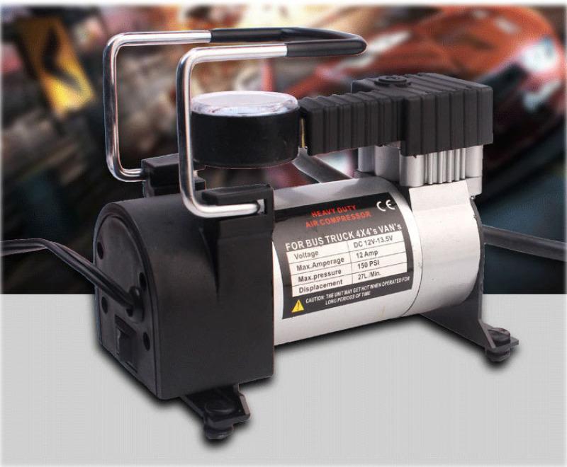 Máy bơm lốp xe Shu Dika 12 V - Máy được thiết kế kiểu dáng nhỏ gọn, dễ sử dụng. Máy có trọng lượng nhẹ, tay cầm vững chắc, giúp bạn di chuyển máy một cách dễ dàng. Máy có 2 công tắc. Đồng hồ giúp đo áp suất khi bơm