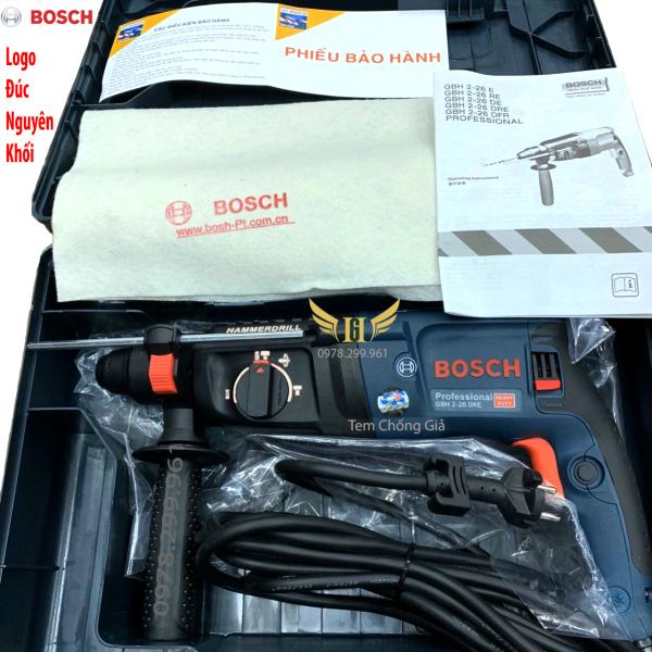 [ HÀNG CAO CẤP - LOGO ĐÚC ] Máy khoan bê tông, Máy khoan Bosch GBH 2-26 DRE Pro - 3 Chức Năng - Có Tem Chống Giả