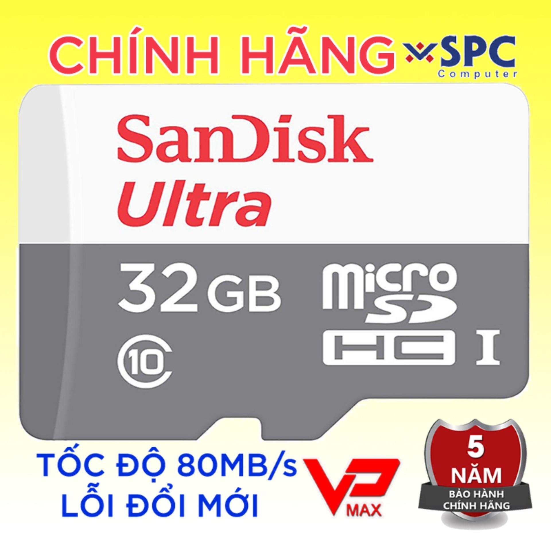Thẻ nhớ Micro SD 32Gb 16Gb Sandisk Ultra High Speed bh 5 năm