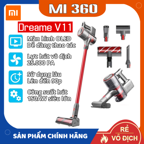 ✅ Hàng Cao Cấp✅ Máy Hút Bụi Cầm Tay Không Dây Đa Năng Xiaomi Dreame V11✅ Hàng Chính Hãng