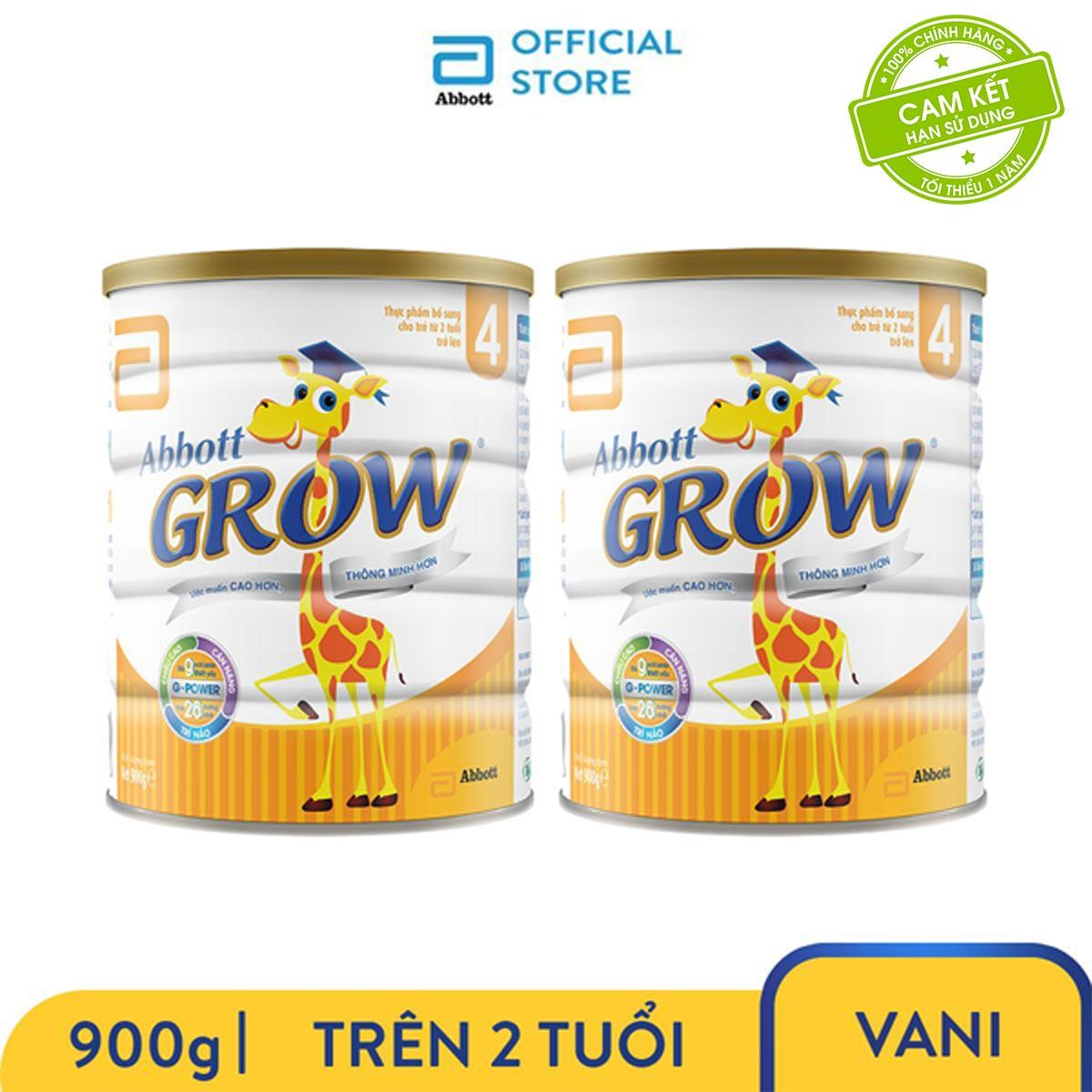 Voucher Khuyến Mại Bộ 2 Sữa Bột Abbott Grow 4 (G-Power) Hương Vani 900g