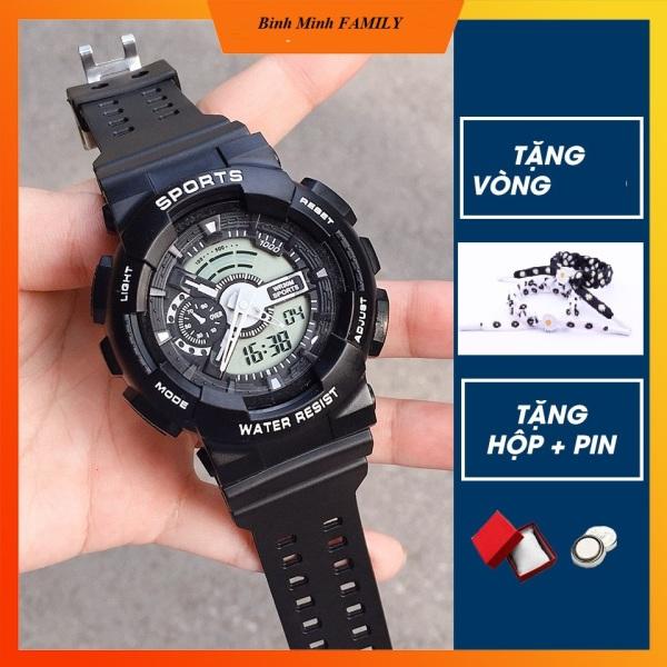 Đồng hồ điện tử nam nữ Shhors điện tử dây cao su chống nước chống (tặng Hộp và Pin ) bán chạy