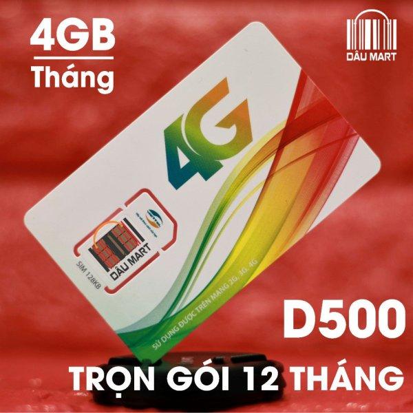 Bảng giá Sim4G Viettel Trọn Gói 1 Năm (4GB/Tháng - Gói D500) Phong Vũ