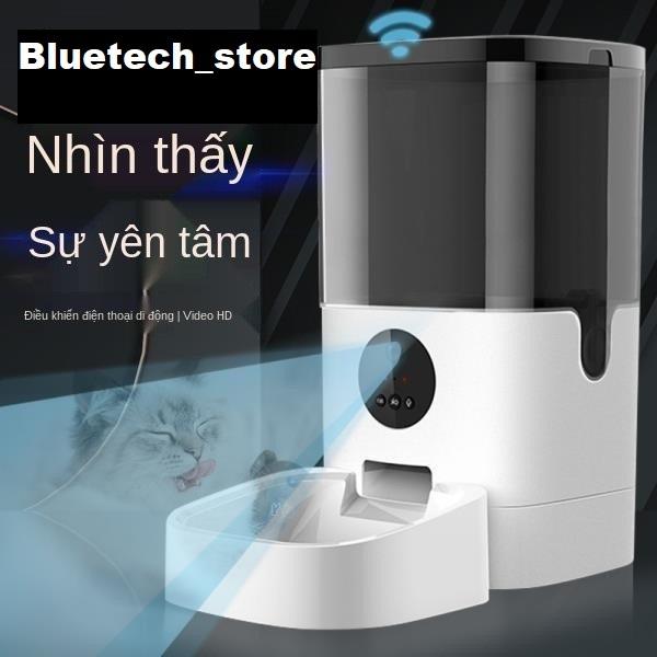 Máy ăn cho mèo có tích hợp camera ẩn - máy nhả hạt tự động cho mèo - máy nhả hạt dung tích 4L , 6L sử dụng qua app Tuya Smart và máy ăn 6L có camera kết nối điện thoại