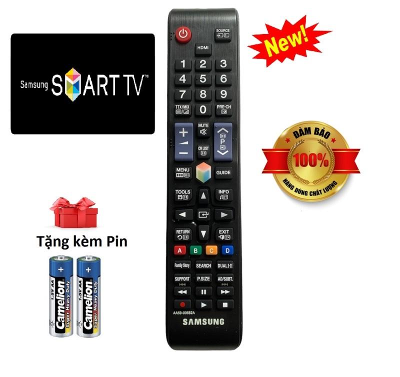 Điều khiển tivi Samsung các dòng UA32 UA40 UA43 UA 49 UA50 UA55 QA65 4K Smart QLED [ tặng kèm pin ] chính hãng