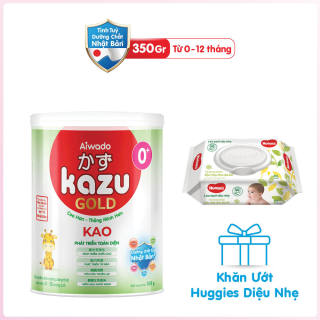 [Tinh tuý dưỡng chất Nhật Bản] Sữa bột KAZU KAO GOLD 350g 0+ thumbnail