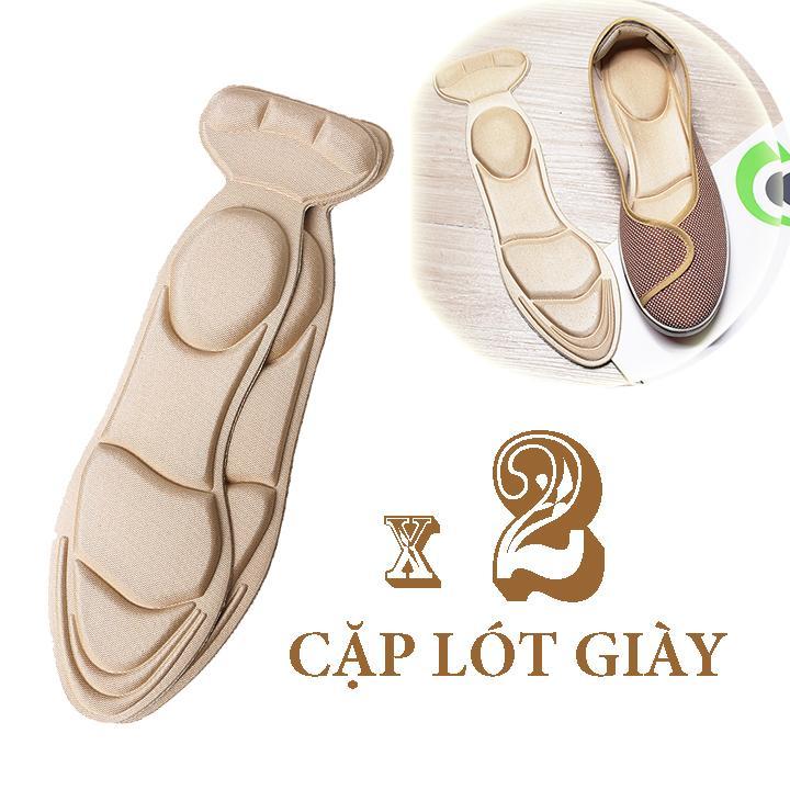 02 cặp lót giày giảm size chống trầy gót chân chống thốn gót, giúp không bị tuột gót khi mang giày cao gót giày búp bê, lót giày mút êm chân bảo vệ gót bàn chân, lót giày mang giày cao gót cực êm chân - Loại nguyên bàn chân - PK11