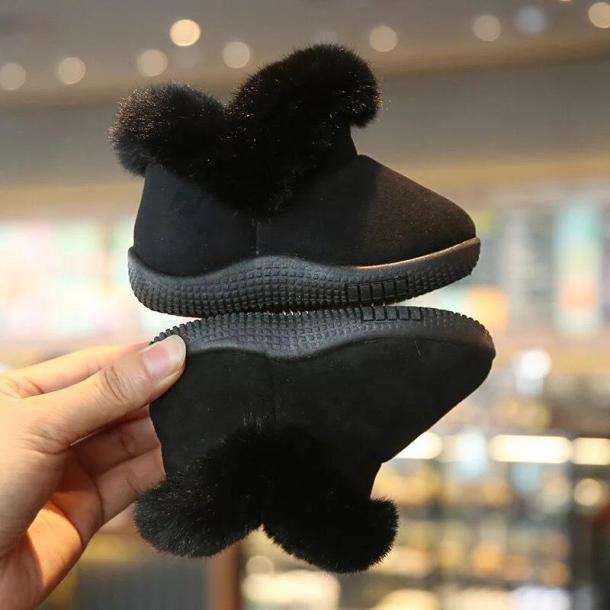 giầy bốt cổ lông cao cấp cho bé giá rẻ