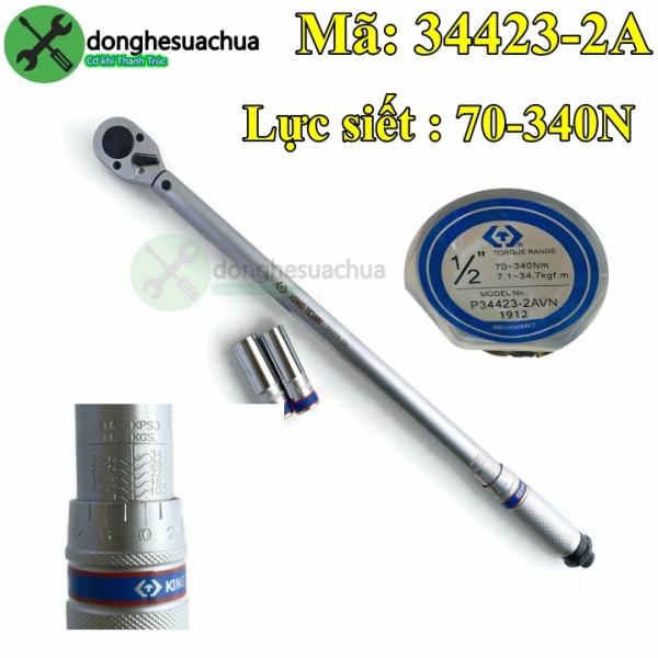 Cần siết lực 1/2 Kingtony 34423-2A 70-340N.m dài 570mm