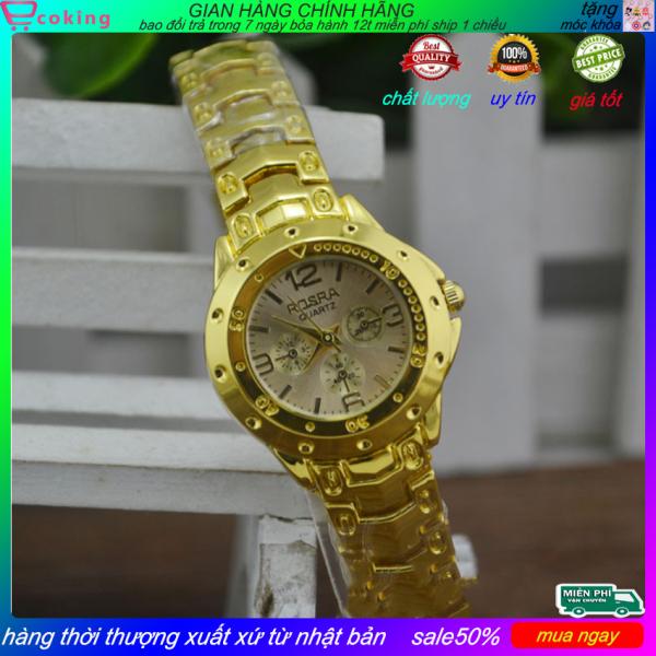 đồng hồ nữ ecoking thời trang nữ cao cấp thanh lịch sang trọng dây kim loại mạ vàng chất lượng,thời trang nữ , đồng hồ đeo tay,đồng hồ nữ đẹp,đồng hồ nữ cao cấp bán chạy