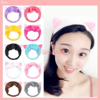 [HCM]Băng Đô Bờm Tóc Rửa Mặt Tai Mèo Makeup Co Giãn Siêu Dễ Thương - Mẫ BD005 thumbnail