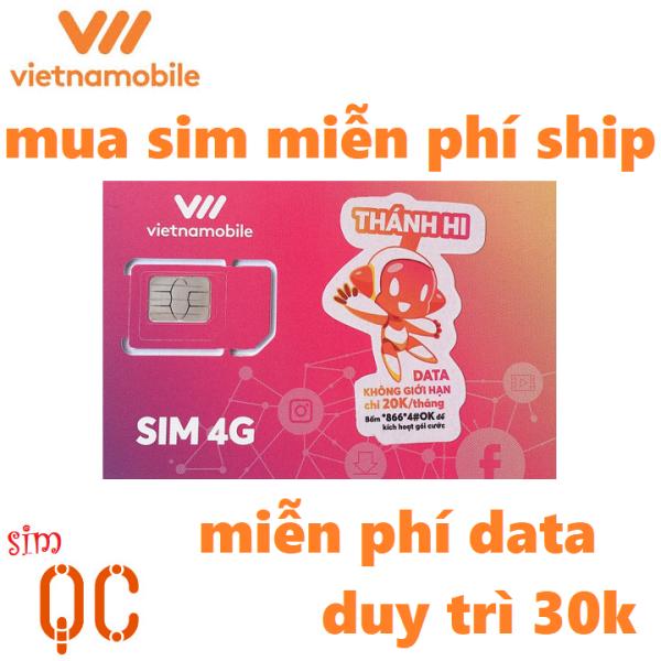 Sim 4G vietnamobile data không giới hạn duy trì 30k
