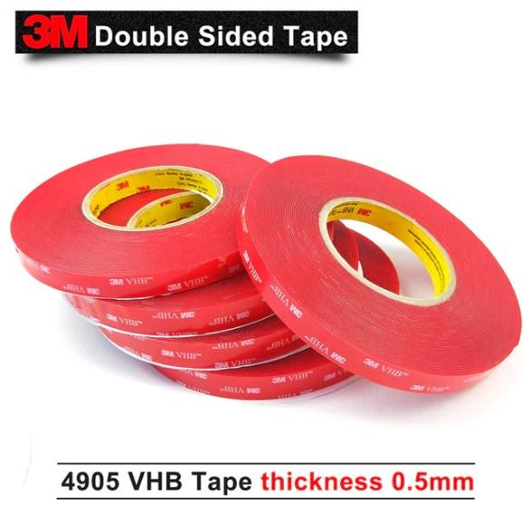 Băng keo 2 mặt 3M VHB 4905 10mmx33m (Đỏ)